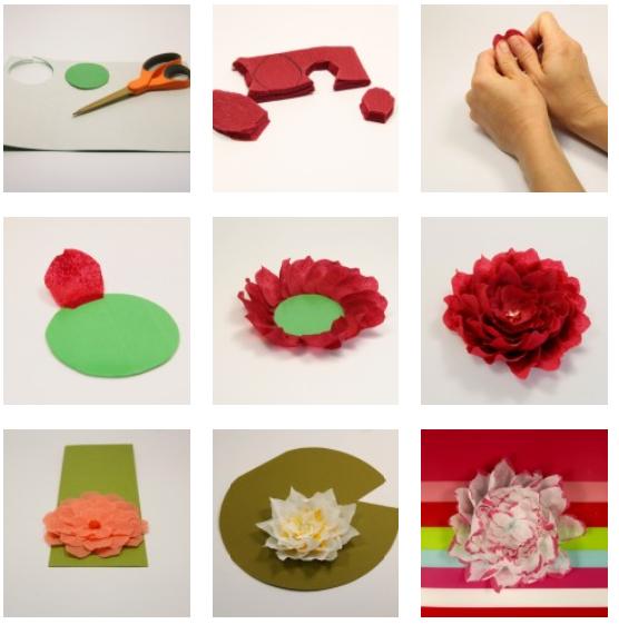 Dreams of freedom como hacer hermosas manualidades - Como se hacen flores de papel ...