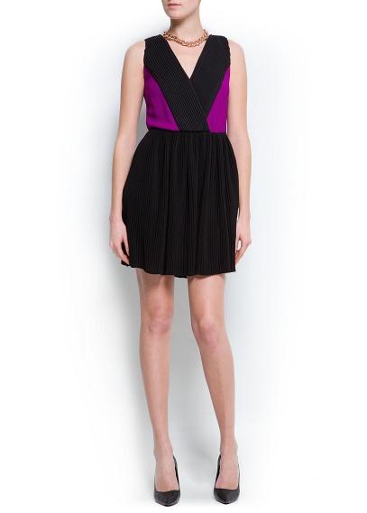 2 renk siyah mor gece elbisesi kısa model