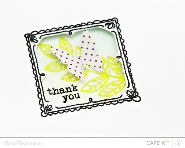 Studio Calico Antiquary Kit window thank you card by @pixnglue