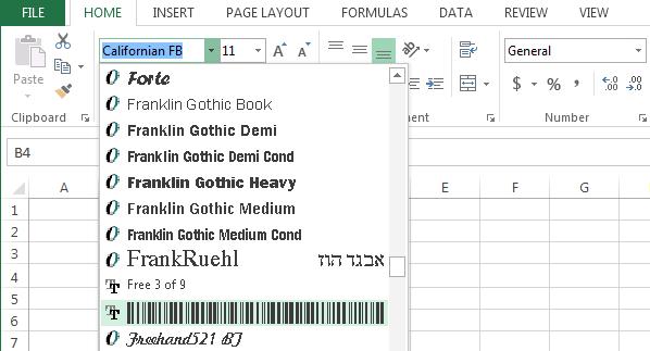 Cara Membuat Barcode dengan Excel 2