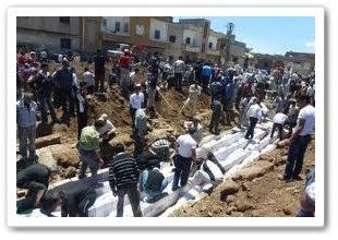 Gambar menunjukkan kemusnahan di bandar Syria