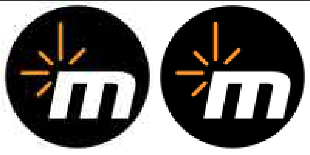 The image on the left is JPEG compressed while the right is uncompressed.