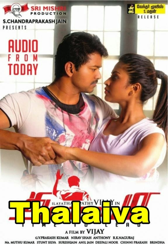 Watch Thalaivaa (2014) DVDRip Hindi Dubbed Movie Watch Online Free Download