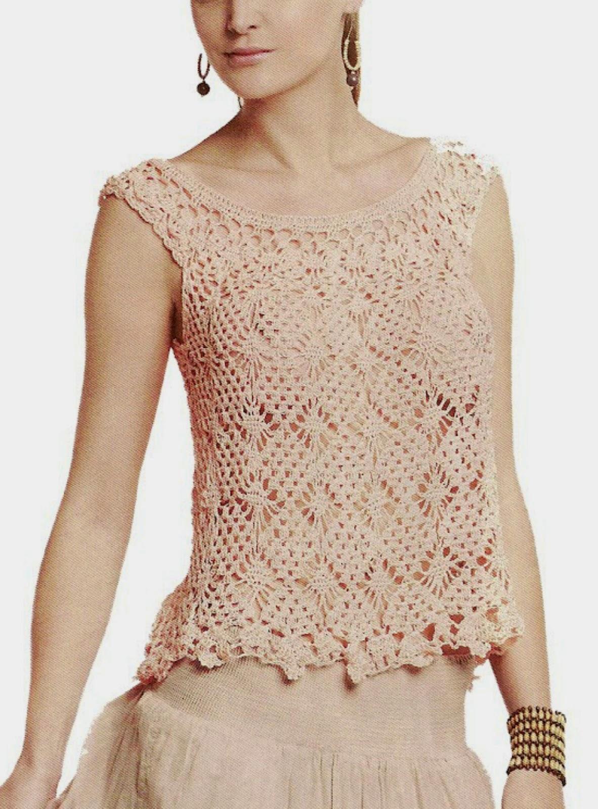 Top princesa que enamora en crochet - Patrones Crochet