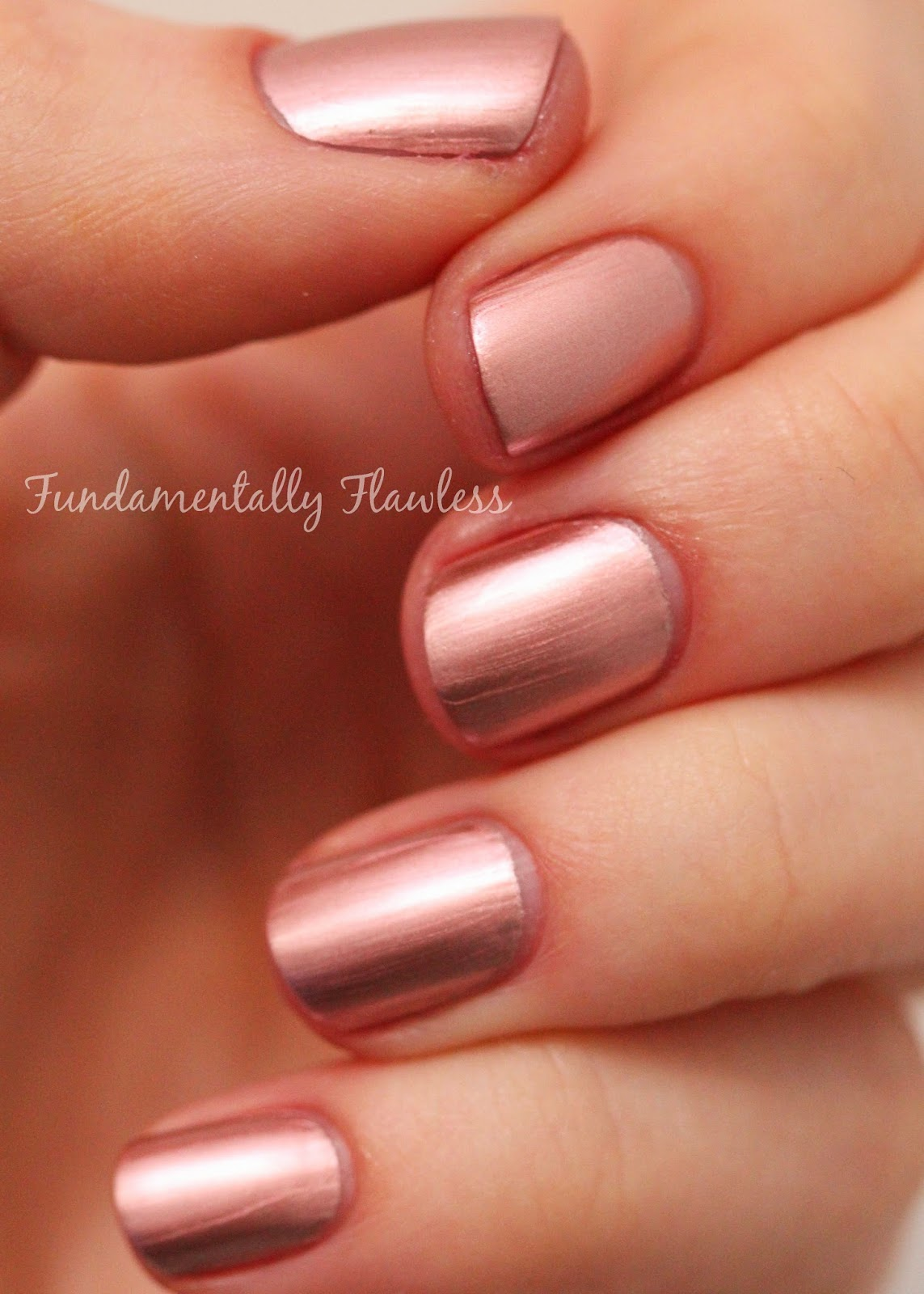 Models Own Colour Chrome Collection Rose Swatch