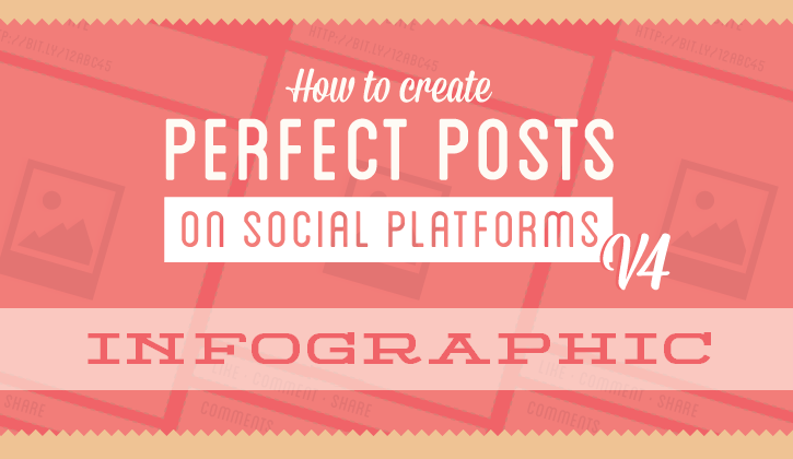 The Art of Creating Perfect Social Media Posts - infographic