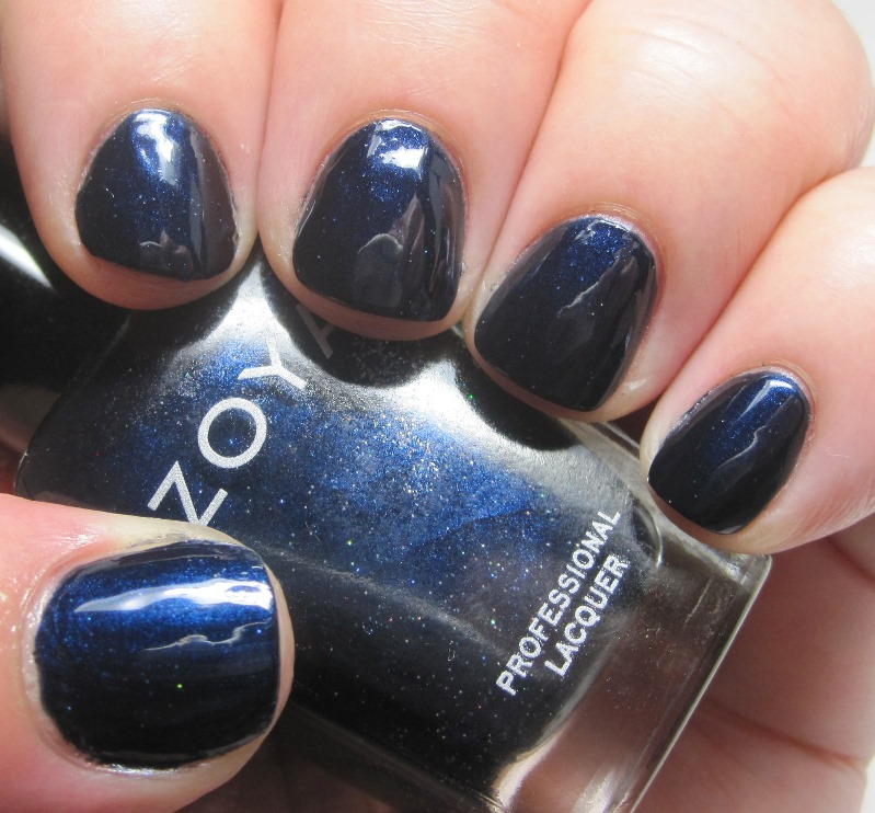 Zoya Indigo, a dark blue with a touch of sparkle
