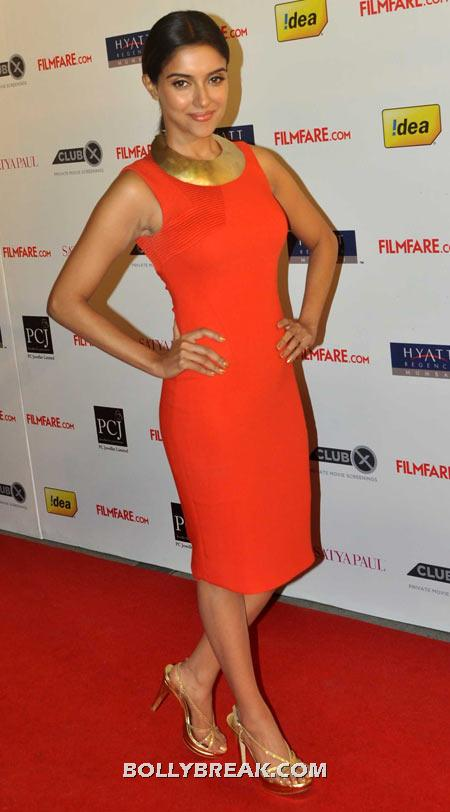 Asin Orange Dress - (3) - Celebrity Pictures in Neon Dresses - Bollywood, Hollywood