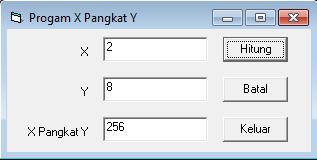 Membuat Program X Pangkat Y Dengan Visual Basic 6.0
