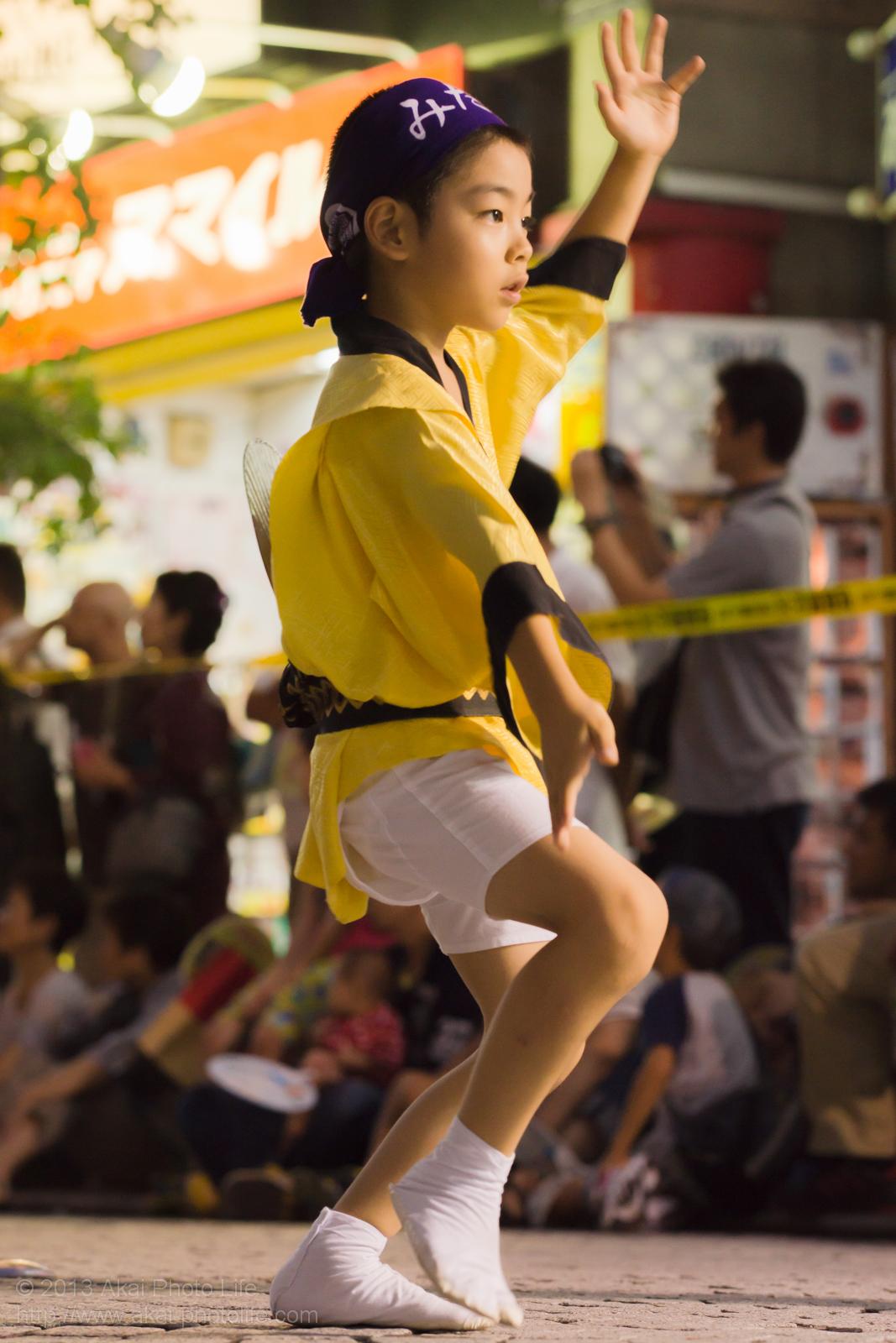 三鷹阿波踊り、みたか連の子供踊り