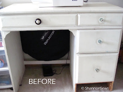 Thrifted dresser makeover before photo