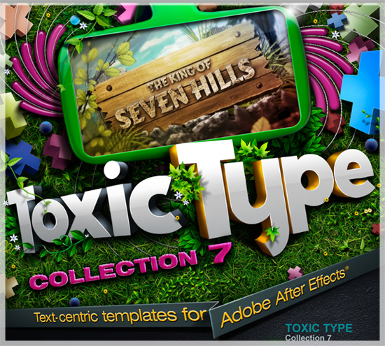 Toxic Type After Effects Templates Collections 7 - Repack