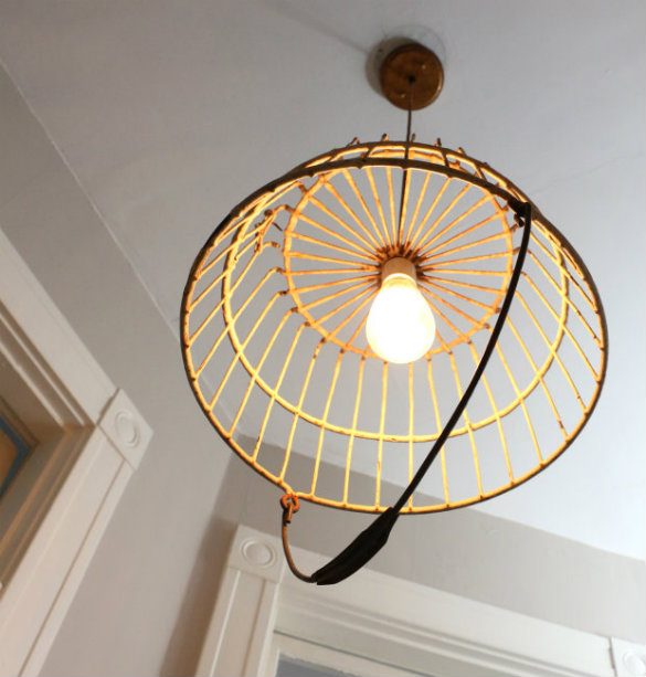 Over on ehow diy industrial pendant light from an antique egg you may have also noticed we replaced the diy pendant lamp we hung in this space just over a year ago we love how this newer basket light feels a bit more aloadofball Choice Image