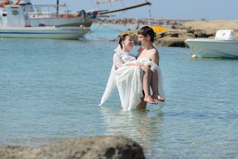 vestuvių fotosesija prie Egėjo jūros