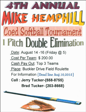8-14/15/16 Mike Hemphill Tournament