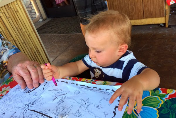 This restaurant is very kid friendly and Reef Indy enjoyed his first experience with crayons.