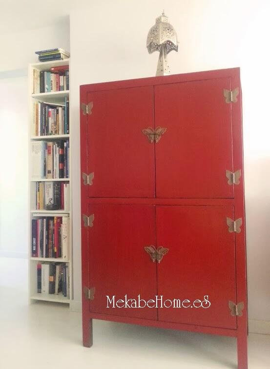 Vuestras fotos armario chino rojo y aparador de flores - Armario de boda chino ...