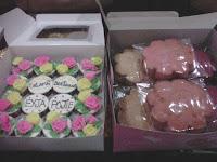 Cupcake Rose dan Bahulu Kemboja - Eyja, Ipoh.