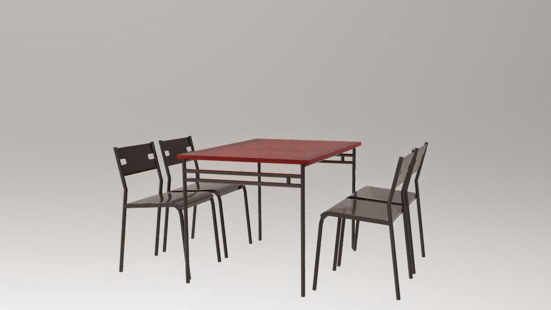 R alisations 3d mod lisation et texturing de diff rents for Modelisation cuisine 3d