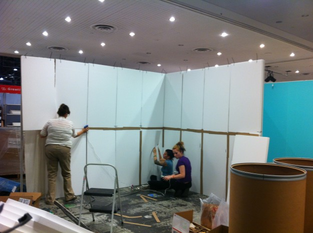 Trade Show Booth Walls : Booth walls veneers pic