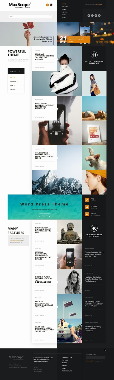 Premium WordPress Template 2015
