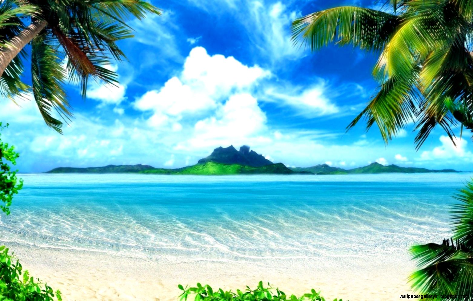 Nature Scene Paradise Hd Wallpaper
