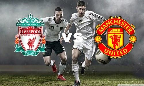 Prediksi Skor Terjitu Liverpool vs Manchester United jadwal 05 agustus 2014