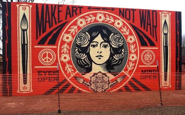 shepard fairey art - mural paintings - wall paintings - public art