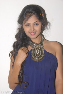 Monal Gajjar in Blue Gown Spicy phoos at Vennela 1 n Half Audio Release function