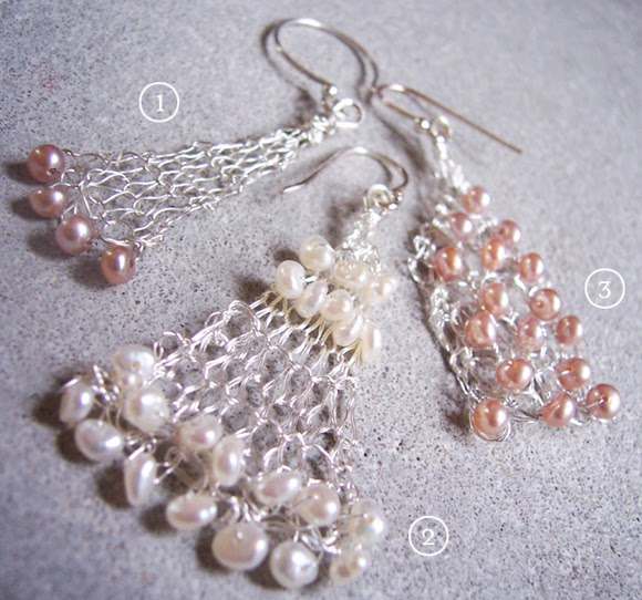 Knitting With Wire Book : Bead and wire knitted earrings tutorials the beading gem