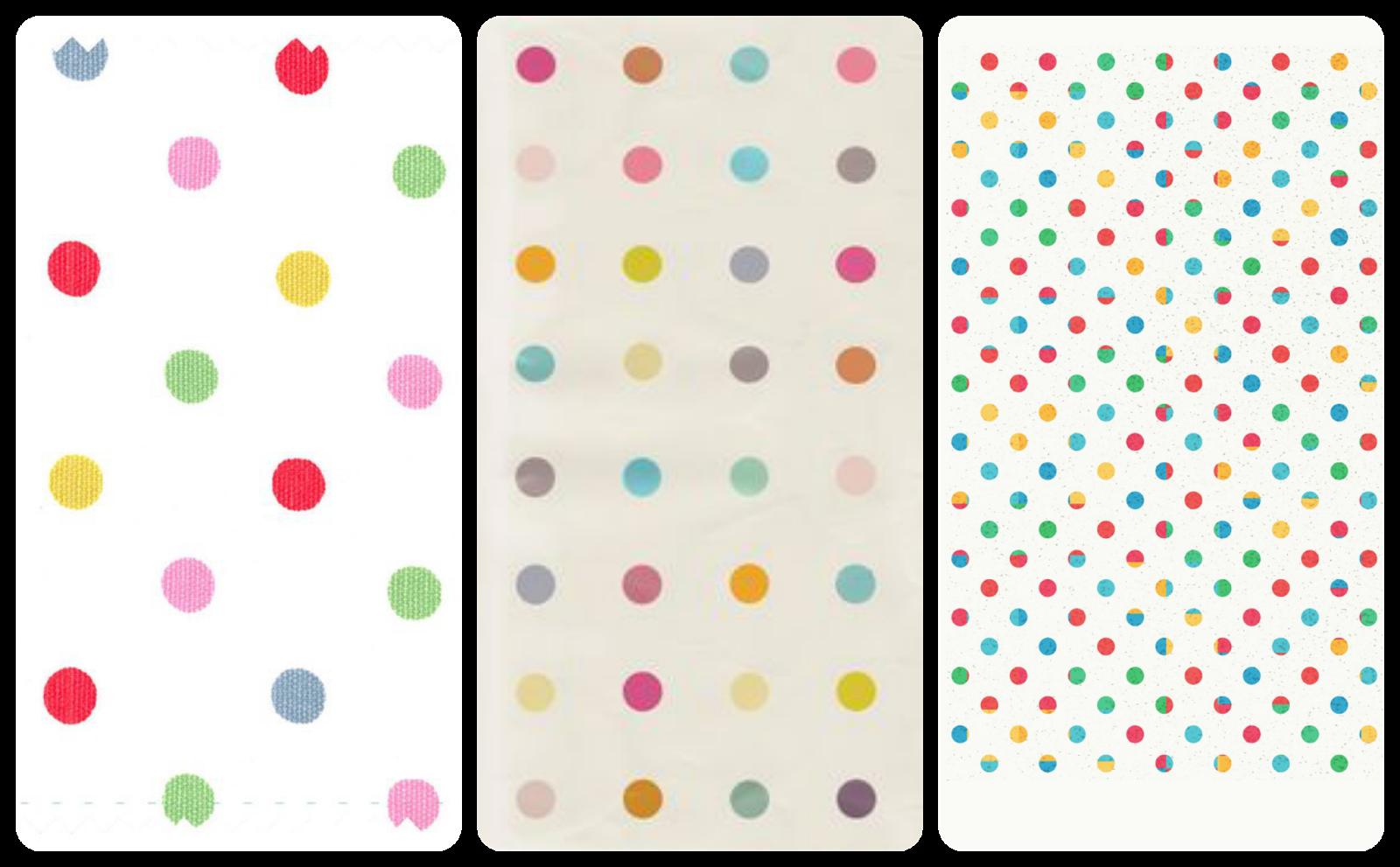 fondos chulos de pantalla para el móvil Iphone, android, samsung polka dots, lunares de colores
