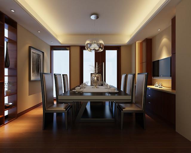Mẫu trần thạch cao phòng ăn biệt thự sang trọng