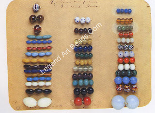 Beads traded in Africa for ivory Top left bead: diameter 1.48 an.