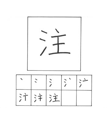 kanji menuangkan