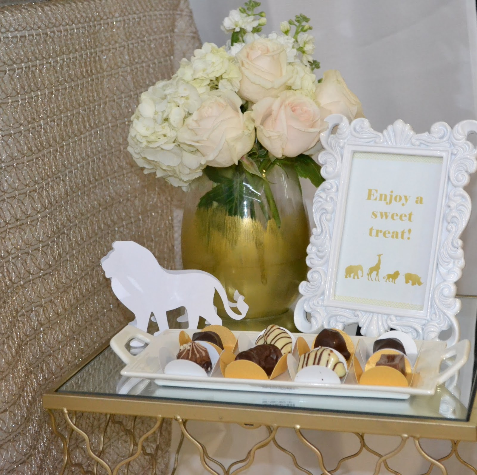 Elegant Safari Baby Shower: Partylicious Events PR: {Golden Safari Baby Shower}