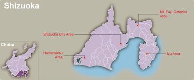 Shizuoka Map Regional City