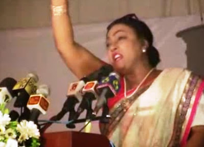 උත්සවයට කඩා පැන්න ගිතාගේ කතාවෙන් යහ පාලනය කුඩේ කුඩු Geetha Kumarasinghe's Uninvited Speech