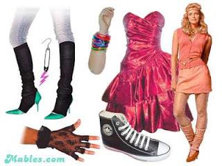 vestidos para festas anos 80
