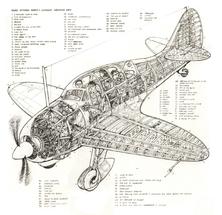aircraft cutaway t