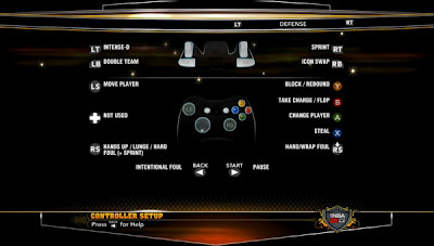 NBA 2K13 Game Controls XBOX 360 PC PS3 Wii
