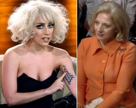 Lady Gaga Makeup on Parecidos Razonables  Lady Gaga Y Su Madre Cinthya Germanotta