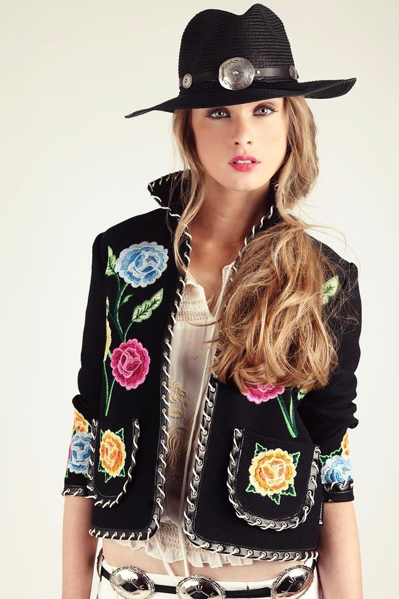 H.Preppy - casaco jacketa  preta bordada