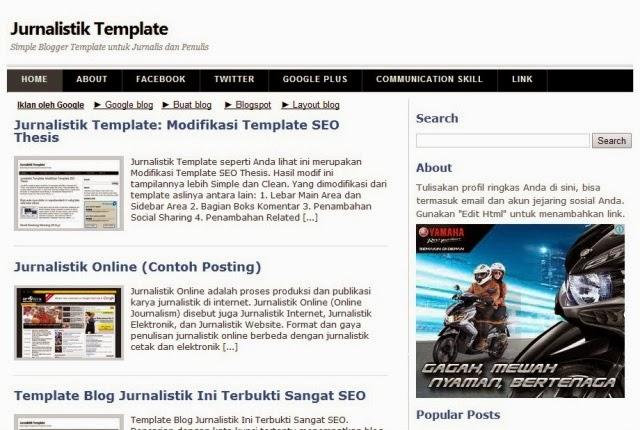 jurnalistik template seo fast blog