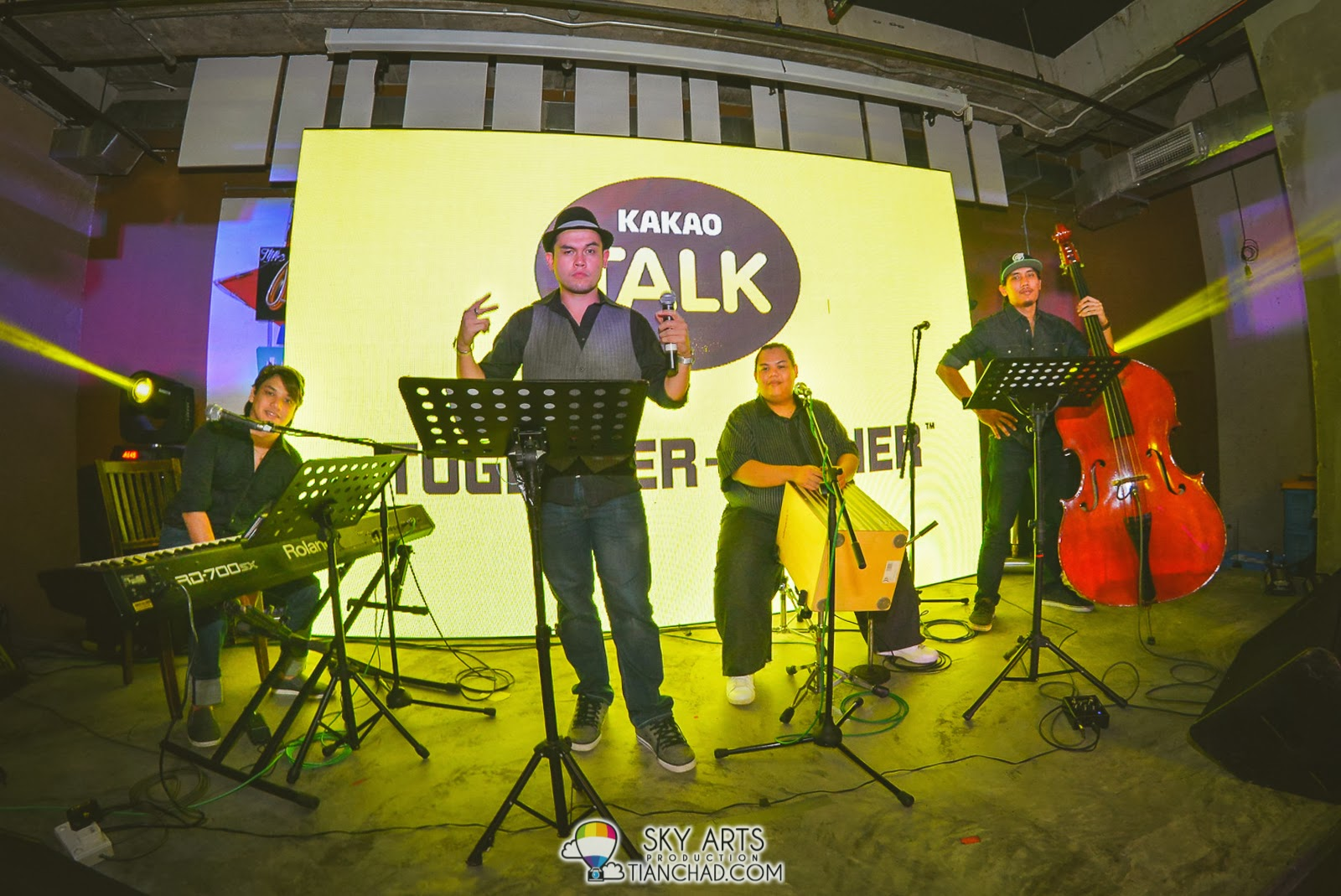 Vince Chong and friends performed at KakaoTalk Malaysia Epic Launch, The Bee Publika