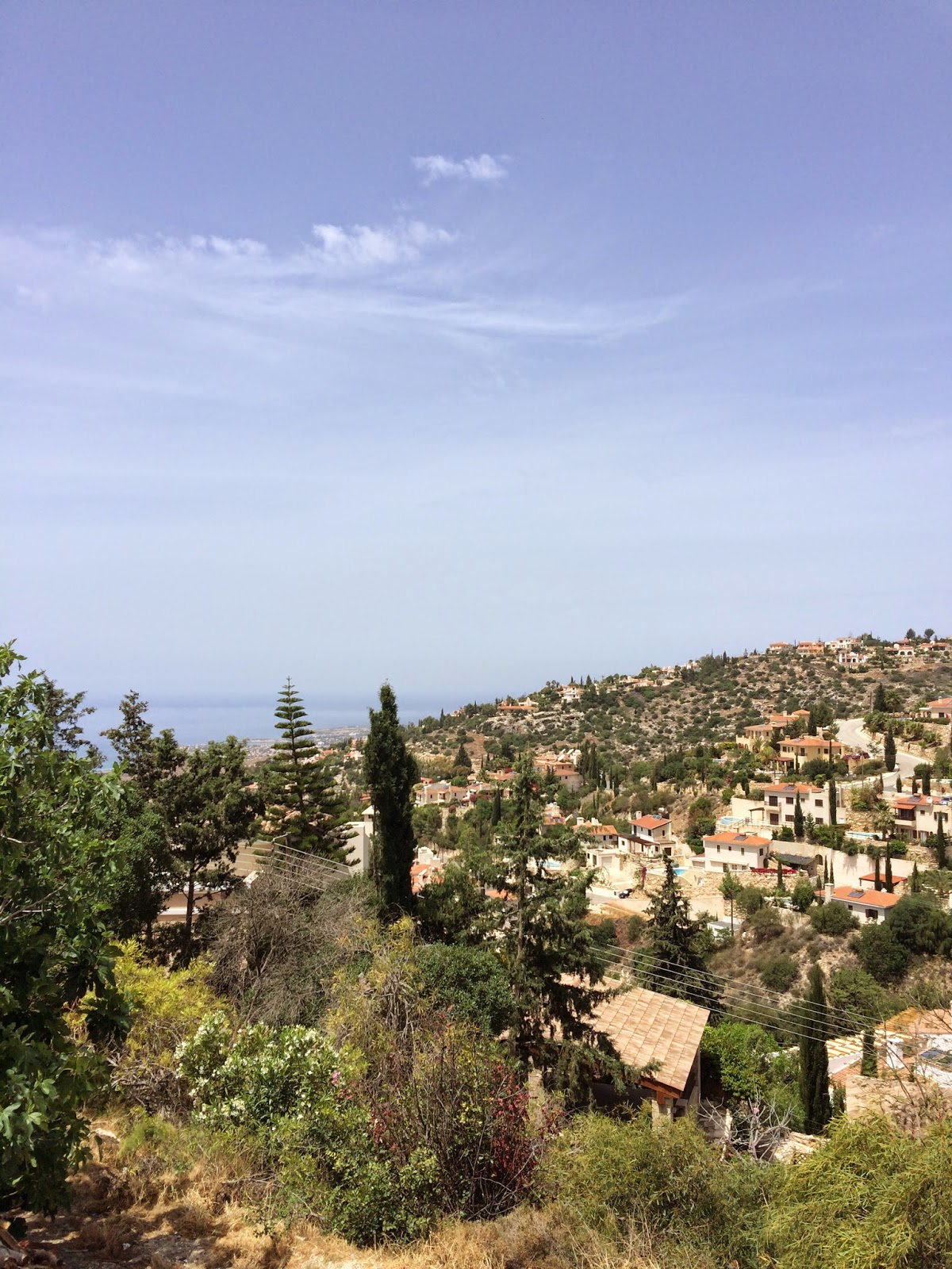 view over Paphos from Kamares Cyprus
