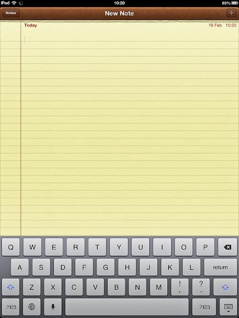 ipad notepad image