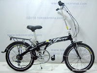 1 Sepeda Lipat PACIFIC Alloy Frame 7 Speed Shimano 20 Inci