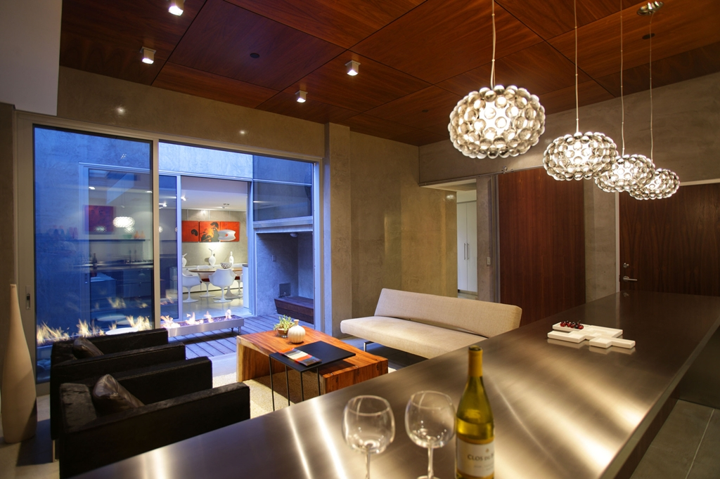 Picture Of Modern Dining Room With The Bar And Small Terrace Lemperle Residence Living By Jonathan Segal La Jolla