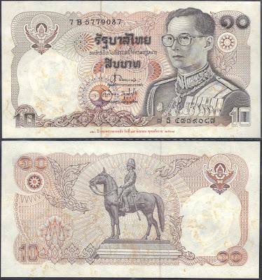 Tailandia 10 baht 1995 P# 98