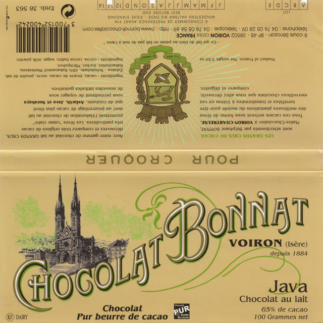 tablette de chocolat lait dégustation bonnat lait java